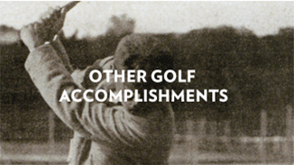 Sands Golf Accomplishments