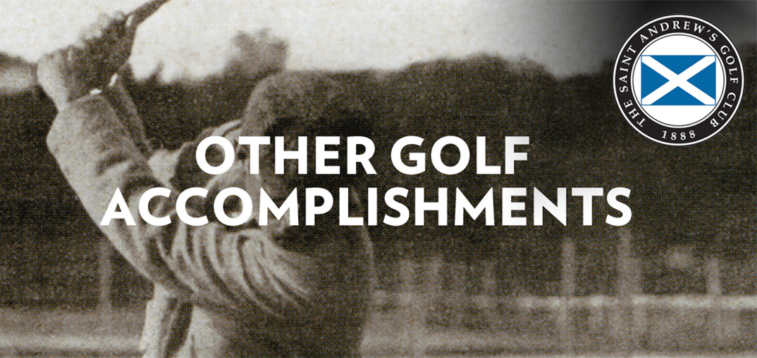 golf accomplishments